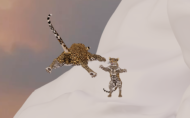 Creatures Animation WIP. Leopard with cub.